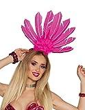 Brasilianischer Kopfschmuck mit Federn Pink