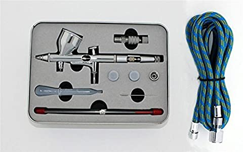 Christmas Sales ABEST PRO Dual-Action Gravity Feed AIRBRUSH w/ 3 TIPS Fine Detail Complete Kit