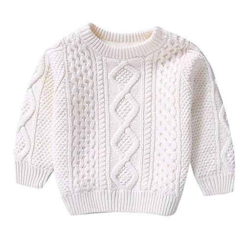 Pingtr Baby Sweatshirt,Kinder Baby Mädchen Baumwolle warme Pullover Plüsch Pullover feste Strickkleidung