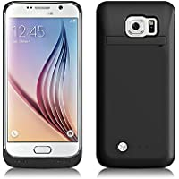 Funda Batería Galaxy S6 , SAVFY® Case carcasa Con Batería Cargador-batería Externa Recargable 4200mAh Para Samsung Galaxy S6 (Negro)
