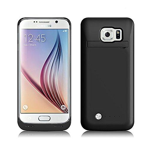 SAVFY Custodia Cover Protettiva con Batteria Esterna per Samsung Galaxy S6, Cover batteria da 4200mAh, Power Bank con batteria integrata, Backup Battery Charger Case