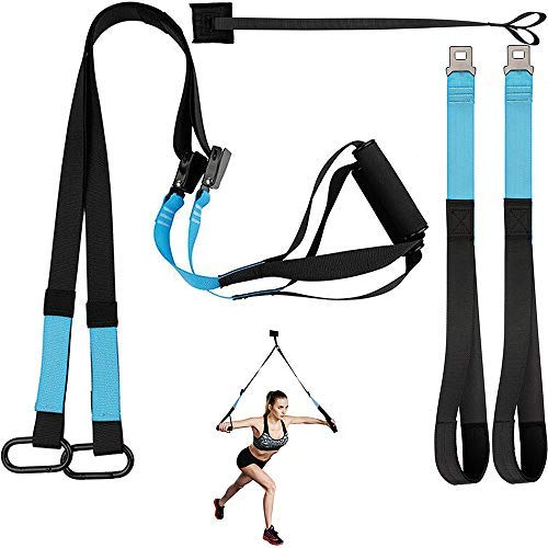 KEAFOLS Fitness Training Pro Suspension System Training Kit Profi Gym Fitness Training Riemen für Home Gym Workout - Tür-workout-system