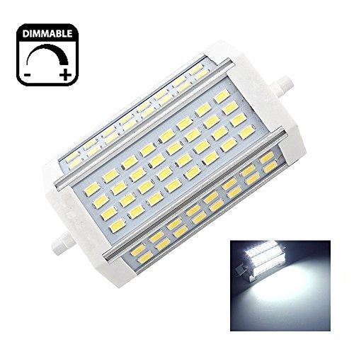 30W Dimmbare R7s LED-Scheinwerfer-Birnen-118mm Kaltes Weiß 6000K 200 Degrees Double Ended J118 R7s LED Lampe 250W Halogen-Ersatz - Double Ended Base