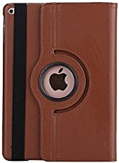 M CART's Smart 360 Degree Rotating Stand Case Cover for New iPad 9.7 inch 2018/2017 5th 6th Generation Model A1822 A1823 A1893 A1954 & ipad Air 2013 A1474 A1475 A1476 A1566 A1567 (Brown)
