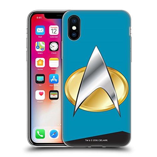 Ufficiale Star Trek Capitano Uniformi E Stemmi TNG Cover Morbida In Gel Per Apple iPhone 6 / 6s Scienze