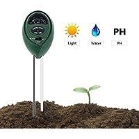 Nicebuty testeur de terre, Deepow 3en 1L'humidité du sol Mètre, Terre kit de pH Mètre pour l'humidité, lumière et pH–utile pour jardin, pelouse, intérieur et extérieur, indicateur de haute précision et facile à lire (pas de batterie Nécessaire)