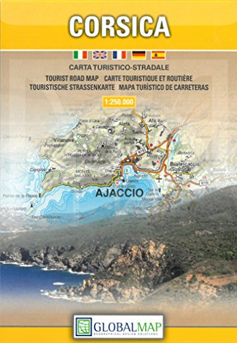 Corsica. Carta turistico-stradale 1:250.000 por Global Map