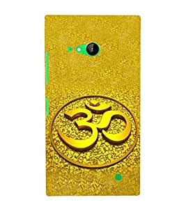 Fiobs Designer Back Case Cover for Nokia Lumia 730 Dual SIM :: Nokia Lumia 730 Dual SIM RM-1040 (Om Hindu shiv shivay Shankar Rudra)