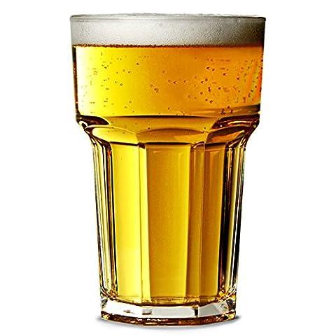 Elite remédier en Polycarbonate Verres demi-pinte de bière 285 ml-Lot de 4/Americano Hiballs Granity Hiballs, Casablanca, Hiballs, verres droits réutilisables en plastique Incassable-Idéal pour les fêtes et l'extérieur & de traiteurs