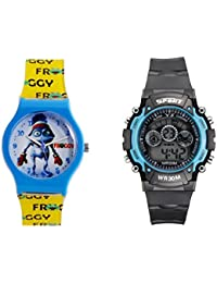 Fantasy World Blue Watch And Sport Watch Combo For Boys And Girls - B0789TW8WX