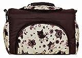 TP-45 Wickeltasche Shopper Reisetasche PIA von Baby-Joy XXXL Übergröße Braun Creme Eule 10 Windeltasche Pflegetasche Babytasche Tragetasche