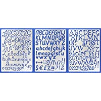 ZOOMY Alfabeto Lettera Stencil Template Pittura Scrapbooking Goffratura Timbratura Carta Album Fai da Te