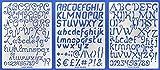 Aleks Melnyk #44 Plantillas Stencils de Metal para estarcir/Abecedario, Letters, Letras, Alfabeto, Numeros Grandes/para Arte Manualidades/Plantillas para Estarcidos/3 piezas/Bricolaje, DIY