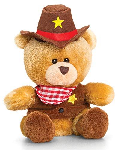 Lashuma Plüschtier Bär, Pipp The Bear als Cowboy, Kuscheltier Teddy angezogen, Teddybär mit Kleidung 14 cm