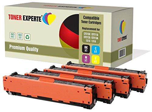 Pack de 4 TONER EXPERTE Compatibles 131X CF210X CF211A CF212A CF213A 131A Cartuchos de Tóner Láser para HP Laserjet Pro 200 Color M251N, M251NW, MFP M276N, MFP M276NW