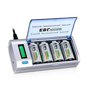 EBL 906 Chargeur de piles combo
