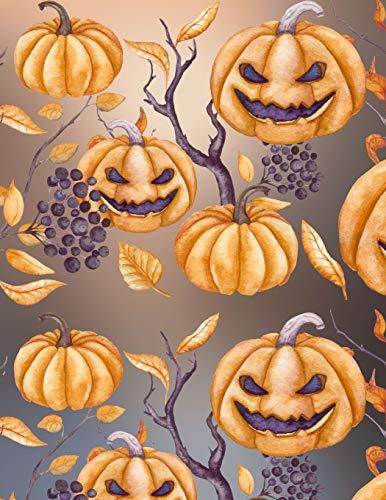Carnet de Notes: Halloween - Grand journal personnel de 121 pages lignées avec couverture et pages sur le thème d'Halloween par Virginie Polissou