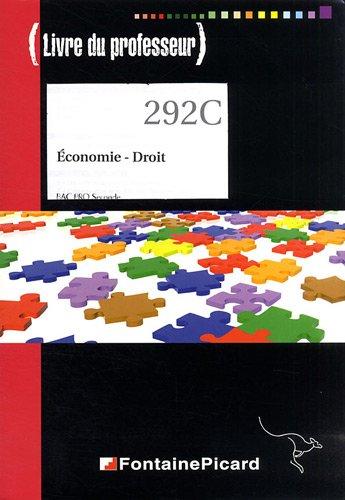 Economie Droit 2e Bac Pro : Livre du professeur (1Cédérom)