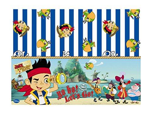 Disney Tischdecke, s Jake und die Nimmerland Piraten, mit Schriftzug Yo Ho, Kunststoff, 1,8x 1,2m (Jake Und Nimmerland-party Die)