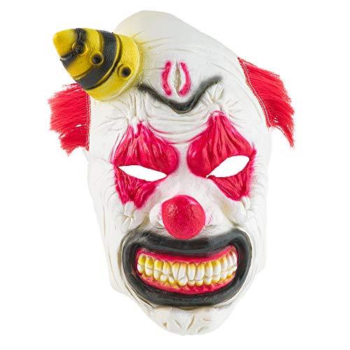 THE TWIDDLERS Neuheit Furchterregende Latex Clownmaske mit Haaren -