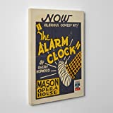 BIG Box Art Vintage Wpa Poster The Alarm Clock Canvas Print, Multi-Colour, 24 x 16-Inch
