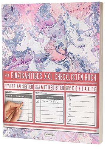 """Mein Einzigartiges XXL Checklistenbuch: 122 A4-Seiten, Softcover, Register uvm. / Für To Do's und Listen / PR501 """"Dicker Farbstrich"""""""
