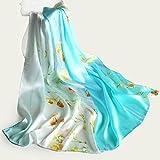 KYXXLD qualità Superiore Sciarpe di Seta Belle Sciarpe di Seta Lunga Ladies' Scialli Primavera e Autunno H