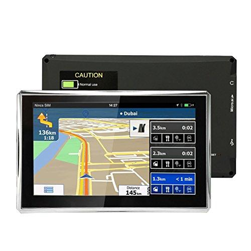 """5"""" GPS Auto Moto Voiture 8GB, NickSea Appareil de Navigation Écran Tactile, Intégrer le Système des Instructions Vocales, Système de Navigation Avec Multi-languages (Gratuits Cartographie d'Europe Mode à Vie)"""