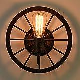 Lámpara De Pared Industrial De La Rueda De LOFT, Luz De Pared Retra Creativa De La Personalidad E27, Pasillo De La Sala De Estar Balcón De La Pared De Balcón De La Sala De Estar Del Hierro (diámetro: Los 30cm)