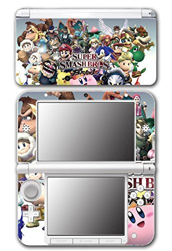 Super Smash Bros Brawl Melee Kirty Meta Knight Wario Sonic Mario Ice Climbers Marth Roy Pit Link Zelda Samus Video Game Vinyl Decal Skin Sticker Cover for Original Nintendo 3DS XL System by Vinyl Skin Designs