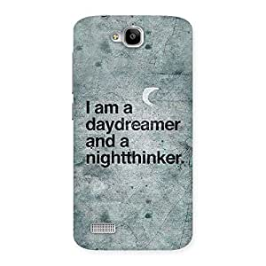 Cute Knight Thinker Multicolor Back Case Cover for Honor Holly