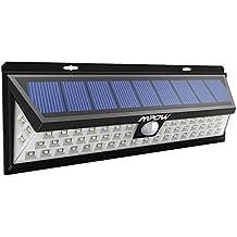 54 LEDs Lámparas Solares Mpow de Foco Solares LED 800lm, Iluminacion Exteriores Solar Impermeable Energía con Sensor de Movimiento 3-8m, Luz Solares de Seguridad, Focos Luz Paredes, Luz Solar Exterior para Jardín, Terraza, Garaje, Camino de Entrada, Escaleras