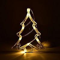 Gogogo Battery Operated Cool White LED Acrylic Snowflake Hanging Sucker Window Light Christmas Lamp Wedding Party-Christmas tree