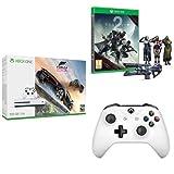 Xbox One S 500 GB + Forza Horizon 3 + Destiny 2 + Controller Bianco
