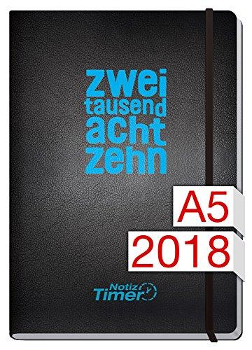 Chäff Wochen-Notizkalender Classic Kalender 2018 A5 Large - Groß Jan-Dez 2018 - Notiz-Timer - Terminplaner - Wochenkalender - Organizer - Terminkalender mit Wochenplaner - Soft-Cover