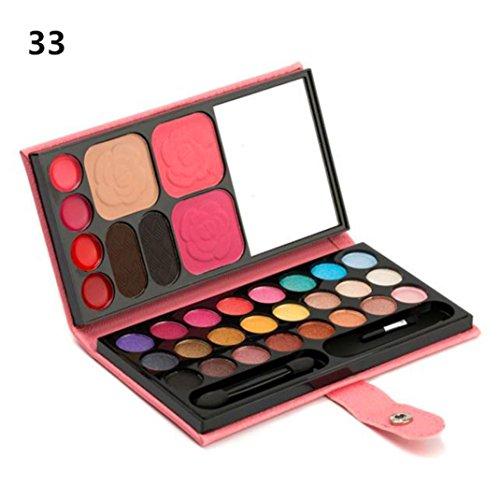 Fards à paupières,33 couleurs oeil ombre maquillage palette cosmétique fard à paupières fard à lèvres Gloss poudre palette ombre à paupières par LHWY