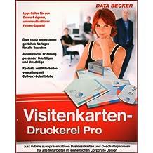 Data Becker Visitenkarten Druckerei Pro - Utilidades de impresión (200 MB, Windows XP (SP2) / Vista)