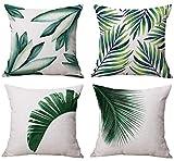 4x geometrico stile cotone lino copertura del cuscino quadrato