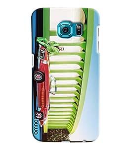 Omnam Person Sitting On Car Near Sansad Bhawan Cartoon Painted Printed Designer Back Case Samsung Galaxy S6
