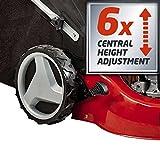 Einhell Benzin Rasenmäher GC-PM 46/2 S HW (1,9 kW, 139 cm³, 46 cm Schnittbreite, 70 l Fangsack, Mulchfunktion, Highwheeler) -