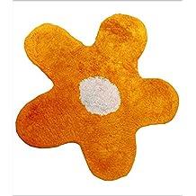 HOGAR TEXTIL DECORACION S.A. - ALFOMBRA DE BAÑO FLOR (Varios colores) - Naranja