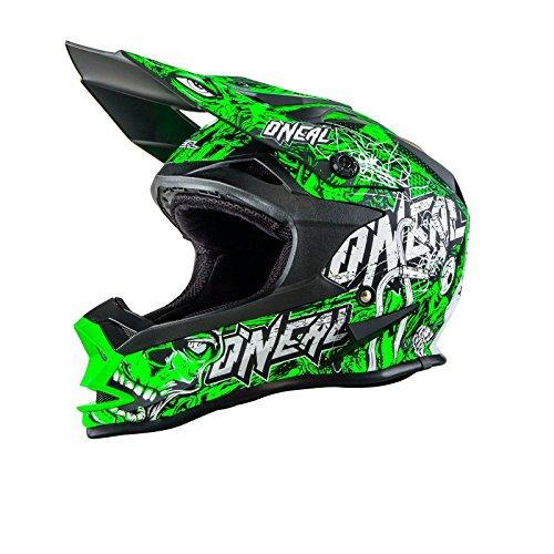 O'Neal 7Series MX Helm Evo Menace Neongrün Moto Cross Motorrad, 0583M-10, Größe Medium (57-58 cm)