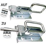 Torriegel Türriegel Bolzenriegel Schubriegel Sektionaltor 120 /12 Silber Verzinkt