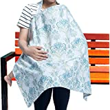 100% Pure Cotton Nursing Breastfeeding Cover Scarf For Mom - Multi-Use Cover For Nursing - Spacious &Comfortable Baby Car Seat Canopy