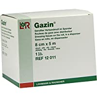 GAZIN Verbandmull 8 cmx5 m 4fach gerollt 1 St Kompressen preisvergleich bei billige-tabletten.eu