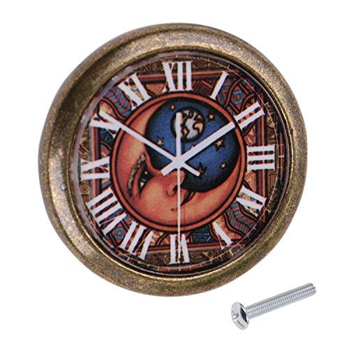 Poignée de Traction Bouton de Porte pour Armoire Tiroir Vintage Motif Horloge - #16