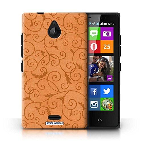 Kobalt® Imprimé Etui / Coque pour Nokia X2 Dual Sim / Pourpre conception / Série Motif de la vigne Orange