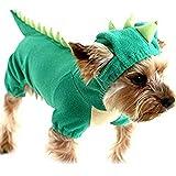 SAMGU Halloween Dinosaurier Kostüm Hunde Haustier Hunde Bekleidung Farbe Grün Größe Small