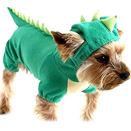 Hund Halloween Kostüm (SAMGU Halloween Dinosaurier Kostüm Hunde Haustier Hunde Bekleidung Farbe Grün Größe)