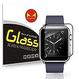 Protection d'écran en verre trempé Apple Watch, Myecogo [3d Couverture complète] iWatch film en verre trempé pour Apple montre tous les modèles Série Série 12Sport Edition Nike + (Couverture complète) iWatch 42mm